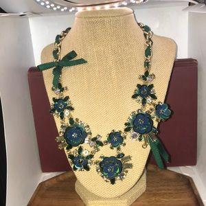 Green flower Talbots brand necklace